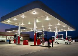 convenience store + gaz station + car wash